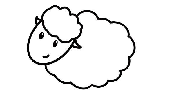 简笔画绵羊的画法步骤步骤图片 动物-第5张