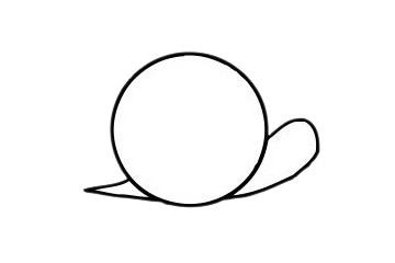 可爱蜗牛简笔画步骤图片大全 初级简笔画教程-第5张