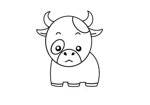 卡通奶牛简笔画,奶牛儿童画图片 中级简笔画教程-第5张