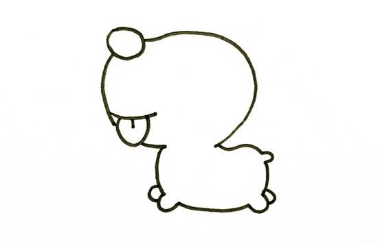 圣诞小麋鹿简笔画图片 中级简笔画教程-第3张