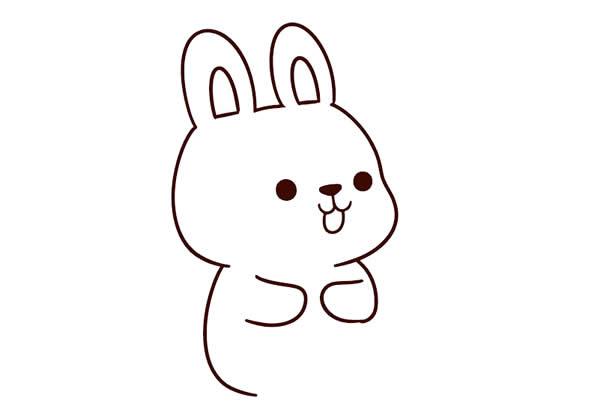 兔子怎么画简单漂亮 中级简笔画教程-第4张