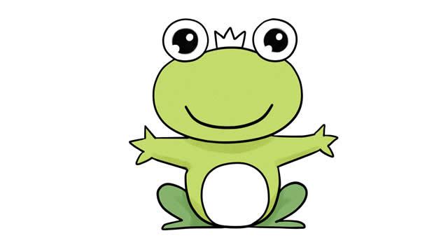青蛙王子简笔画彩色图片 动物-第8张