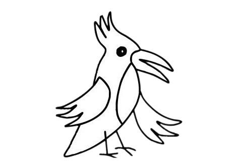 啄木鸟怎么画,儿童简笔画啄木鸟画法 中级简笔画教程-第12张