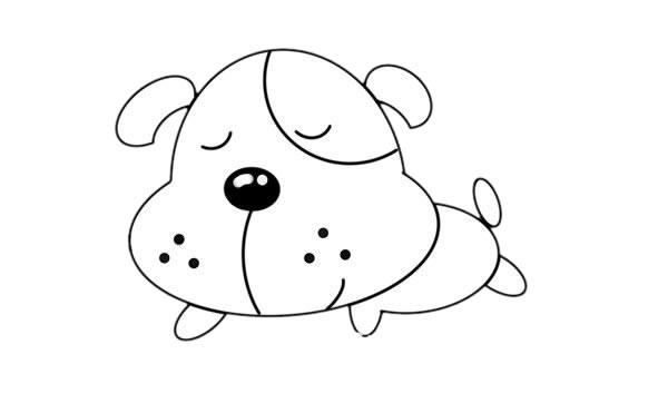 小黄狗简笔画,小黄狗怎么画简单画法 中级简笔画教程-第5张