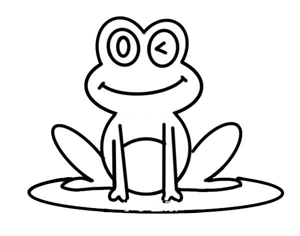 荷叶上的青蛙简笔画彩色 动物-第6张