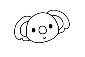 考拉简笔画简单画法 初级简笔画教程-第5张