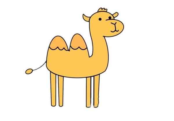 卡通骆驼的简单画法,骆驼儿童简笔画 初级简笔画教程-第1张