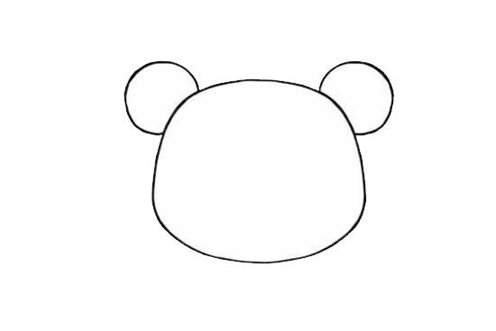 可爱的小熊姑娘简笔画画法步骤步骤图片 动物-第3张