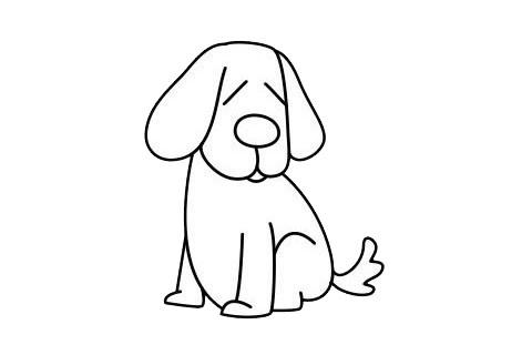 一步一步学画小狗简笔画 初级简笔画教程-第9张