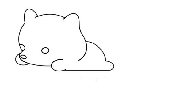 简单的白狐怎么画,可爱的白狐简笔画画法 中级简笔画教程-第5张