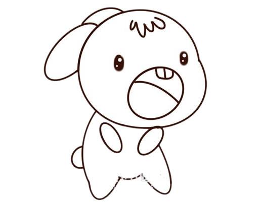 可爱兔子简笔画彩色_卡通兔子简笔画步骤图片大全 动物-第5张