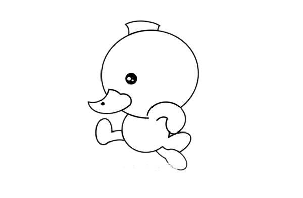 简单可爱的小鸭子简笔画绘画教程 初级简笔画教程-第4张