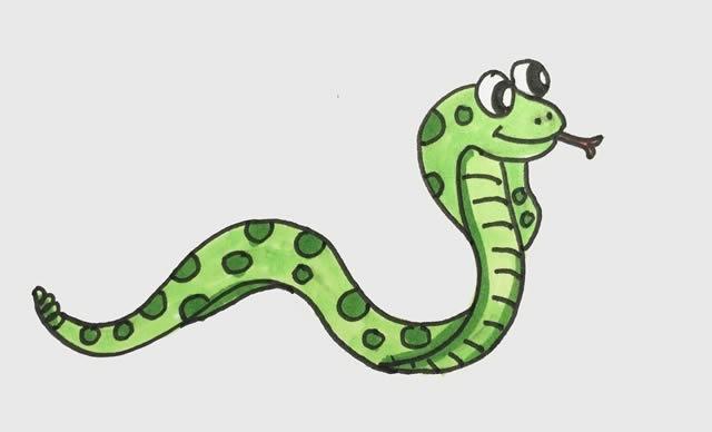 眼镜王蛇怎么画简笔画 动物-第1张