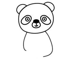 怎么画熊猫简单画法 初级简笔画教程-第5张
