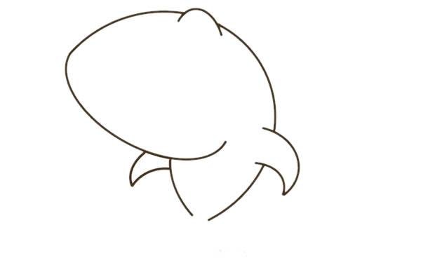 卡通鲨鱼简笔画彩色图片教程 中级简笔画教程-第4张