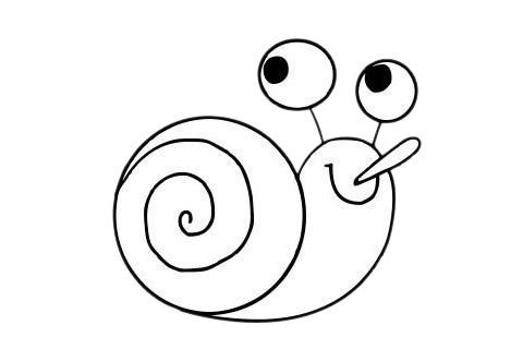 可爱蜗牛简笔画步骤图片大全 初级简笔画教程-第11张