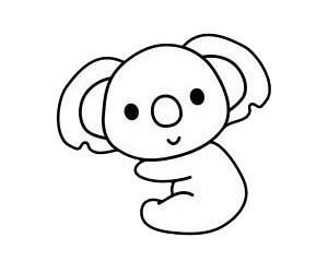 考拉简笔画简单画法 初级简笔画教程-第6张