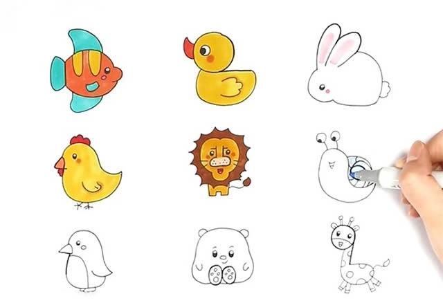 1到9数字画动物简笔画大全 动物-第4张