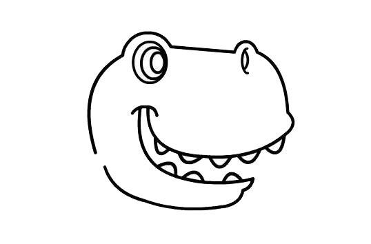 儿童简笔画学画恐龙 中级简笔画教程-第3张