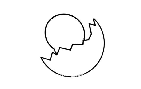 刚出生的小鸡简笔画画法 初级简笔画教程-第3张