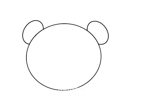 大熊猫头像简笔画 中级简笔画教程-第3张