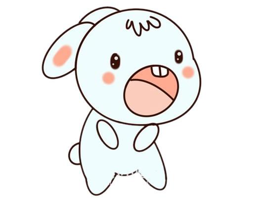 可爱兔子简笔画彩色_卡通兔子简笔画步骤图片大全 动物-第1张