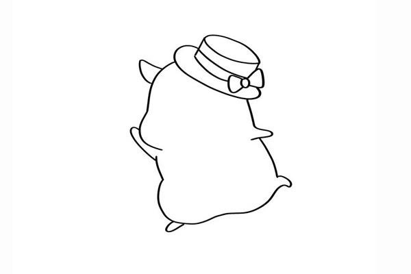 可爱的q版仓鼠简笔画画法 动物-第3张