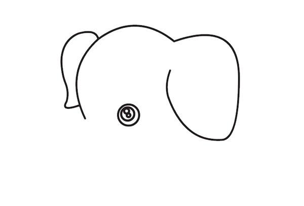 大象怎么画最简单 卡通大象简笔画步骤教程 动物-第2张