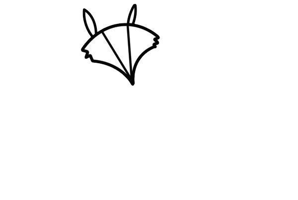 狡猾的狐狸简笔画画法步骤步骤图片 动物-第3张