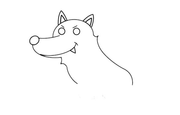 大灰狼怎么画,大灰狼儿童简笔画教程 初级简笔画教程-第4张
