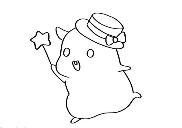 可爱的q版仓鼠简笔画画法 动物-第4张