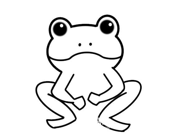绿色的小青蛙简笔画画法 中级简笔画教程-第4张