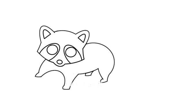 浣熊怎么画简笔画简朴又漂亮 中级简笔画教程-第5张
