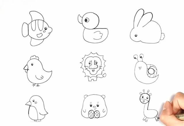 1到9数字画动物简笔画大全 动物-第3张
