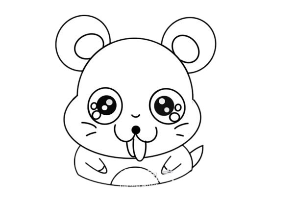 卡通老鼠简笔画,q版老鼠儿童简笔画 中级简笔画教程-第6张