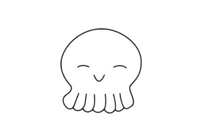 简单又漂亮的章鱼怎么画 初级简笔画教程-第10张