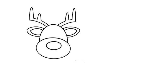 驯鹿怎么画简朴又悦目 驯鹿简笔画步骤画法教程 中级简笔画教程-第3张