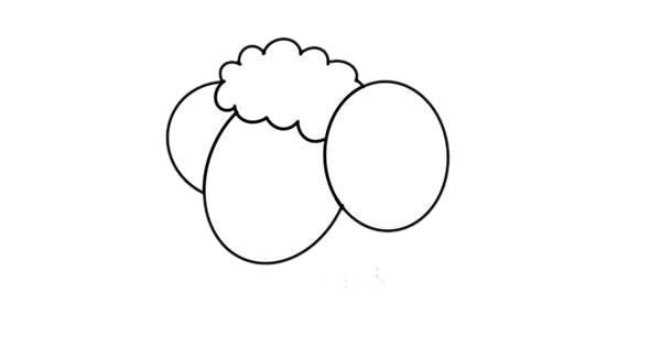 卡通彩色绵羊简笔画绘画教程 初级简笔画教程-第2张