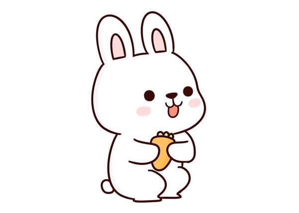 兔子怎么画简单漂亮 中级简笔画教程-第1张