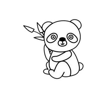 怎么画熊猫简单画法 初级简笔画教程-第2张