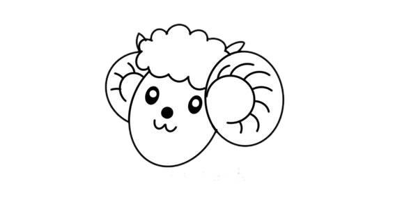 卡通彩色绵羊简笔画绘画教程 初级简笔画教程-第3张