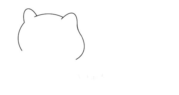 简单的白狐怎么画,可爱的白狐简笔画画法 中级简笔画教程-第3张