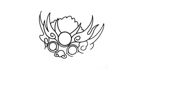 年兽简笔画,年兽怎么画 动物-第4张