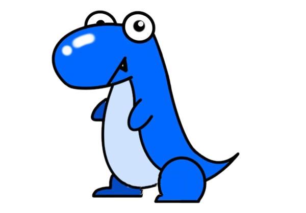 可爱恐龙简笔画大全带颜色 初级简笔画教程-第1张