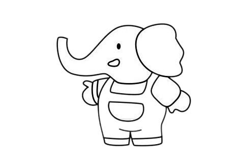 大象怎么画最简单,大象简笔画 初级简笔画教程-第10张