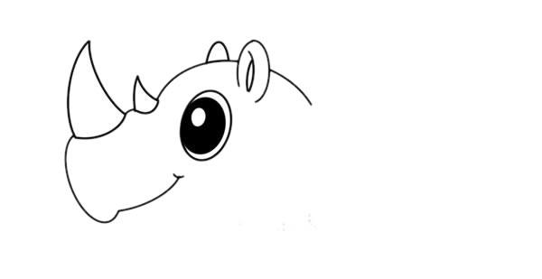 犀牛简笔画彩色画法教程 初级简笔画教程-第3张