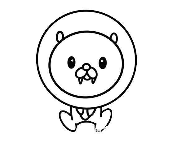 卡通狮子简笔画,可爱的狮子画法 初级简笔画教程-第4张