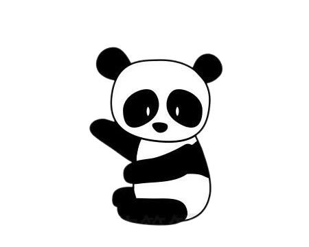 怎么画熊猫简单画法 初级简笔画教程-第8张
