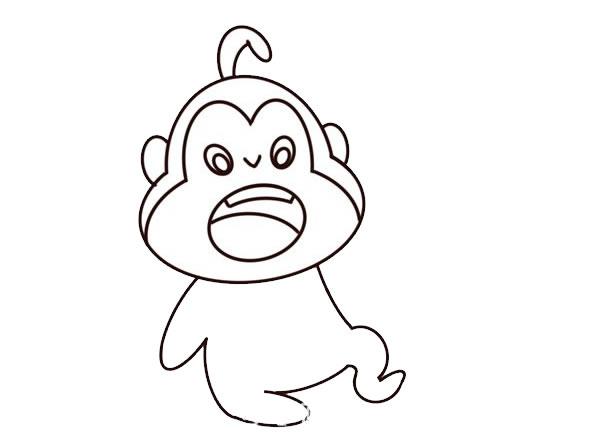 q版猴子简笔画图片 中级简笔画教程-第4张