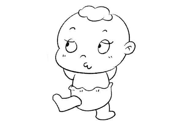 8款小婴儿简笔画大全可爱 人物-第4张